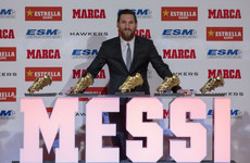 Another one! Messi collects record fifth Golden Shoe award