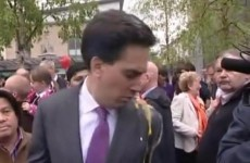 Video: British Labour Party leader egged in Southampton
