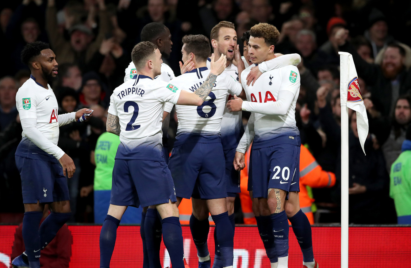 6eb373946 Christmas comes early for Spurs as win over Arsenal sees them into ...