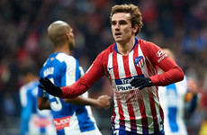 Griezmann's landmark goal sees Atletico move level with Barcelona