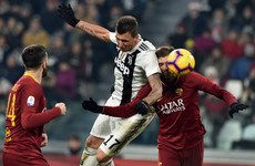 Mandzukic adds to Roma's struggles as Juve restore eight-point lead