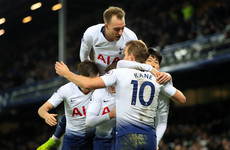 Kane and Son net a brace each as Tottenham run riot at Goodison Park with six goals