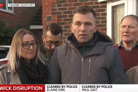 A screengrab from the couple's statement to Sky News.