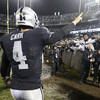 Security tackle fans as Raiders beat Broncos on possible farewell to Oakland