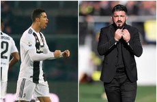 Ronaldo rescues draw for 10-man Juventus as AC Milan legend under pressure