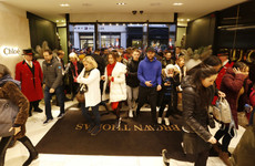 Shoppers queued up from early this morning for the St Stephen's Day sales