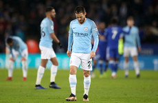 Man City's bid to retain league title suffers major blow following Leicester defeat