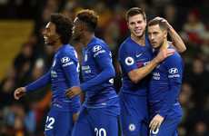 Eden Hazard scores 100th goal, as Chelsea earn hard-fought win