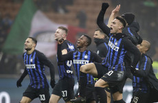 Crossbar denies sensational Inter goal from kick-off before substitute snatches late victory over Napoli