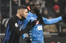 Napoli asked for halt to Inter game after racist chants