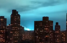 'Not aliens': New York sky lights up blue after blown transformer at power plant