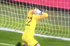Own goal of the year? An Italian keeper well and truly f**ked up last night