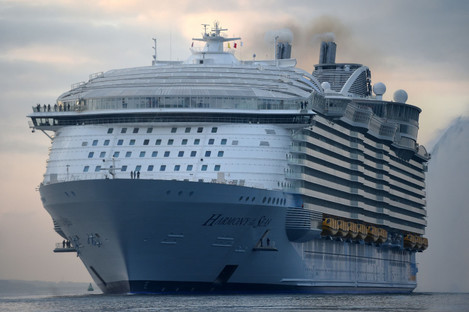 Arron Hough went missing while working on the Harmony of the Seas, owned by Royal Caribbean.