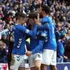 First Old Firm league win since 2012 brings Rangers level with Celtic at the top