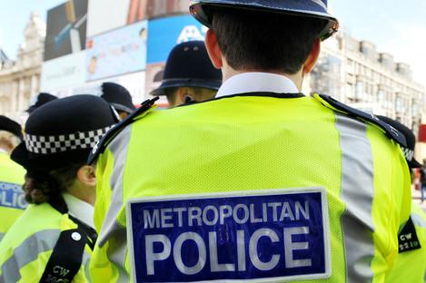 File photo of Metropolitan Police officers in London.