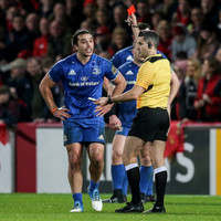 Lowe to face disciplinary panel following red card in Leinster's defeat to Munster
