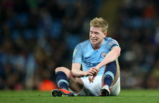 'We need to check in the morning': De Bruyne faces late fitness test for Liverpool clash