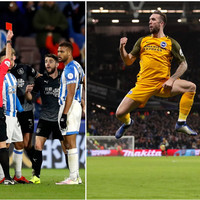 Red card for Brady as Burnley win and Duffy hits the net as Brighton draw