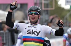 Race for the prize: Cavendish secures stage win in Giro
