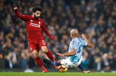 'How is that not a red card?' Kompany tackle on Salah the only complaint for Klopp