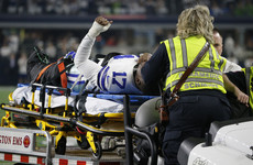 Cowboys receiver Hurns suffers ugly leg injury in NFL wild card play-off