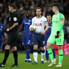 Advantage Spurs in Carabao Cup semi-final as Kane's VAR-assisted penalty sees off Chelsea