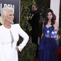 Jamie Lee Curtis is raging at the Fiji Water Girl from the Golden Globes... it's The Dredge