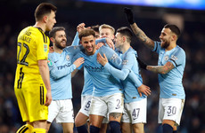 Man City put 9 past Burton Albion to keep quadruple dream alive