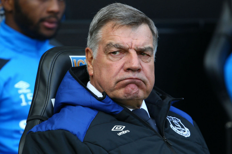 Sam Allardyce during his time in charge of Everton.