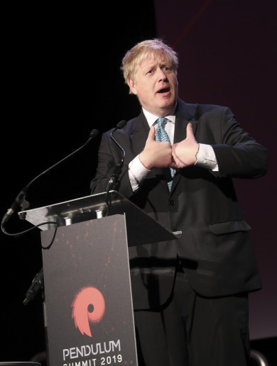 Boris Johnson tells €795-a-ticket Dublin conference that 'nobody will implement' a hard border