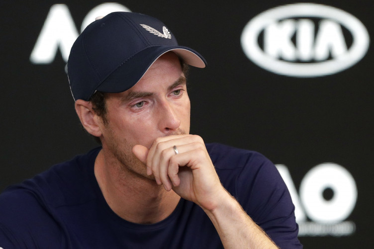 Murray was visibly emotional during the press conference.