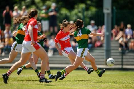 Cork's Ciara O'Sullivan scoring against Kerry last year.