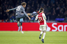 Bayern star Muller to miss Liverpool clashes for kicking Ajax defender in the head