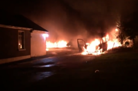 A screengrab from footage of the incident.