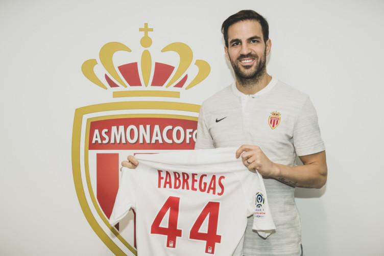 Cesc Fabregas completes his move to Monaco.