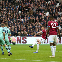 Declan Rice scores his first West Ham goal as Hammers claim huge win over Arsenal
