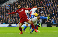 Salah on target as Liverpool see off Brighton to stay top of the Premier League