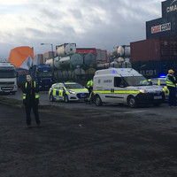 'Yellow Vest' protesters attempt to block traffic near Port Tunnel in Dublin