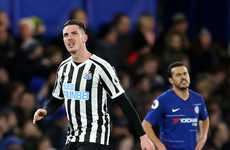 Ciaran Clark on target with header against Chelsea but Willian wins it for Blues