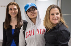 'Very, very happy' Saudi woman arrives in Canada after receiving asylum