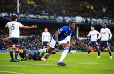 Kurt Zouma's first goal for Everton helps earn nervy win on Coleman's return