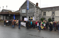 Anti-racism rally held outside fire-damaged Leitrim hotel earmarked as Direct Provision centre