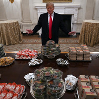 Trump buys hundreds of burgers for football team as shutdown impacts staff