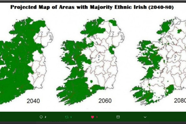 600 Year Old Map Of Ireland.Factcheck Does This Tweet Show The Decline Of The Ethnic