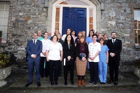 Nurses and midwives announcing their strike last week.