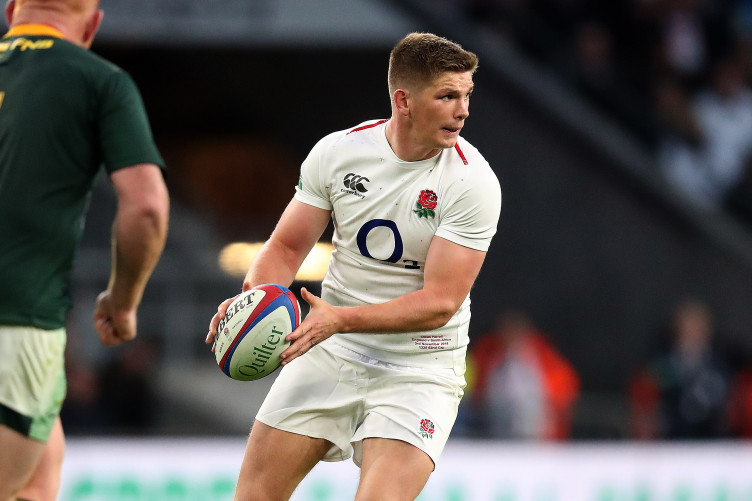 Farrell on the attack against South Africa.