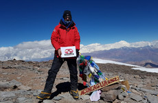 A Dublin man has reached South America's highest peak, after being forced to turn back last year