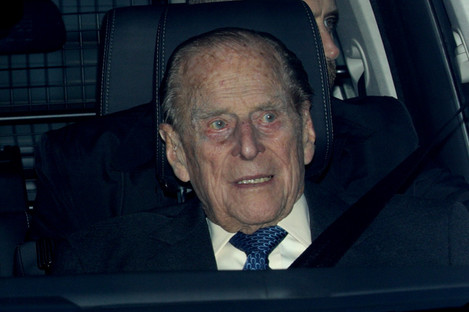 Prince Philip pictured over Christmas.