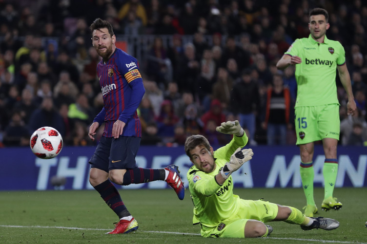 Messi scored Barcelona's third.