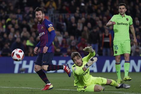 Messi scored Barcelona's third.